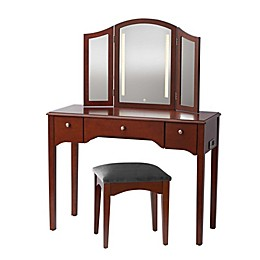 Camilla 2-Piece Vanity Set in Walnut