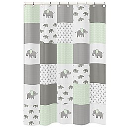 Sweet Jojo Designs Elephant Patch Shower Curtain