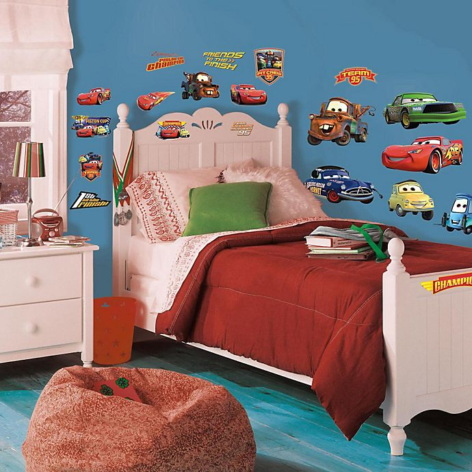 Alternate image 1 for RoomMates Disney® Pixar Cars Piston Cup Champions Peel & Stick Wall Decals