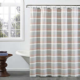 KAS ROOM Zerena Striped 72-Inch x 72-Inch Standard Shower Curtain in Coral