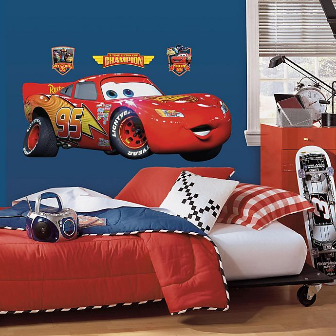 a706a459cea RoomMates Disney® Pixar Cars Lightning McQueen Giant Wall Decal ...