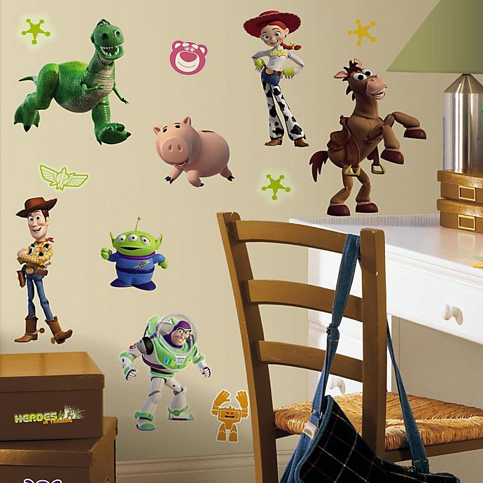 Alternate image 1 for RoomMates Disney® Pixar Toy Story 3 Glow in the Dark Wall Decals