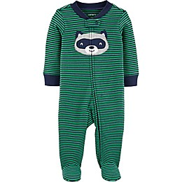 carter's® Raccoon Footie in Green/Navy