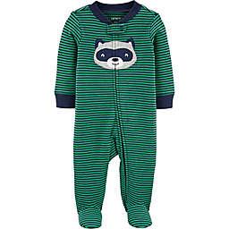 carter's® Raccoon Footie in Green/Navy