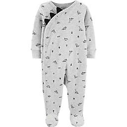 carter's® Dinosaur Footie in Heather Grey