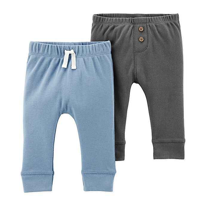 Alternate image 1 for carter's® 2-Pack Sweatpants in Blue/Grey