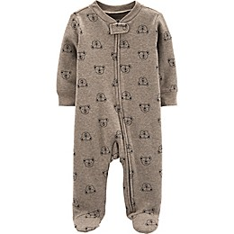 carter's® Bear Thermal Footie in Brown
