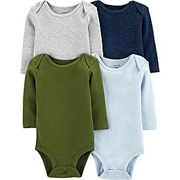 carter's® 4-Pack Long Sleeve Bodysuits