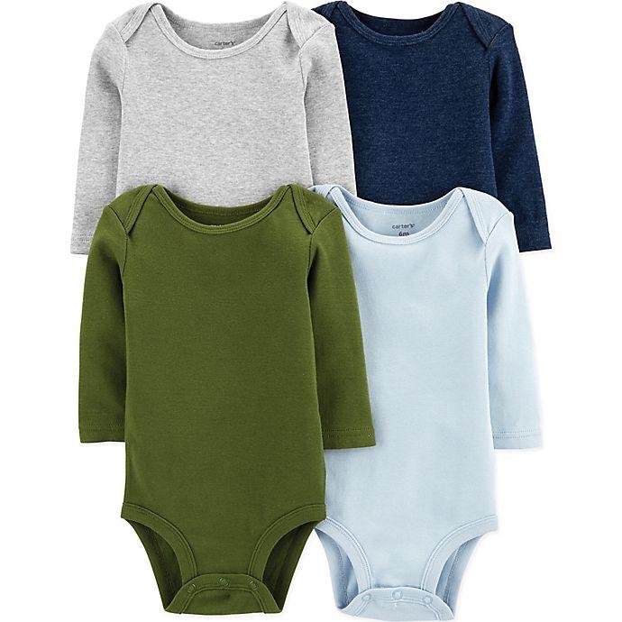 Alternate image 1 for carter's® 4-Pack Long Sleeve Bodysuits