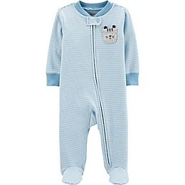 carter's® Blue Stripe Tiger Footie