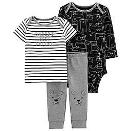 carter's® 3-Piece Dog Little Character Layette Set in Grey