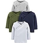 carter's® Size 3M 4-Pack Long Sleeve Kimono Tops