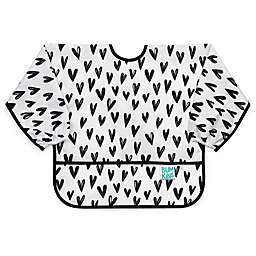 Bumkins® Hearts Sleeved Bib in White