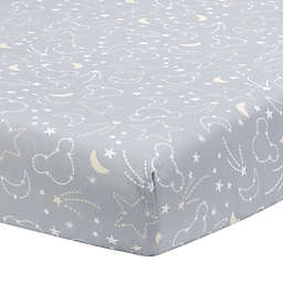 Lambs & Ivy® Disney® Mickey Mouse Fitted Crib Sheet in Grey/White