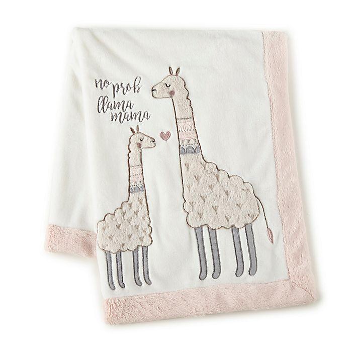 Alternate image 1 for Levtex Baby® Imani Stroller Blanket in Ivory/Pink