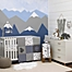 Part of the NoJo® Mountain Patchwork Crib Bedding Collection