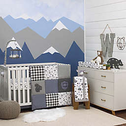 NoJo® Mountain Patchwork 4-Piece Crib Bedding Set in Grey