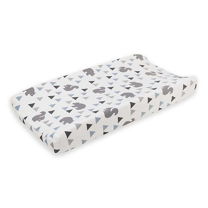 Alternate image 1 for NoJo Mountain Patchwork Changing Pad Cover