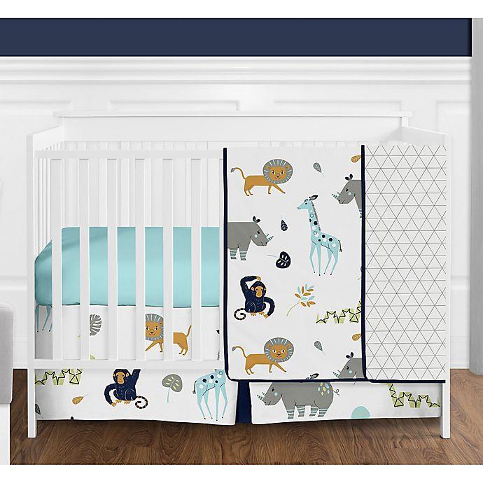 Alternate image 1 for Sweet Jojo Designs® Mod Jungle 4-Piece Crib Bedding Set