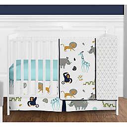 Sweet Jojo Designs Mod Jungle 4-Piece Crib Bedding Set