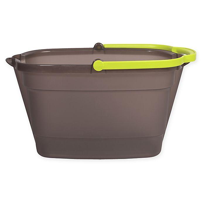 Alternate image 1 for Wayclean by Casabella® 4-Gallon Bucket in Grey/Green