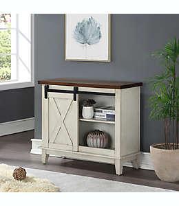 Mesa consola Bee & Willow™ Home en blanco/café nogal