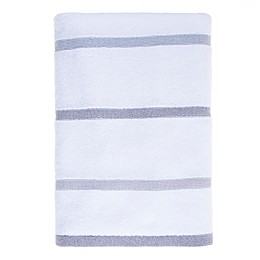 Fashion Value Ruched Stripe Towel in Grey