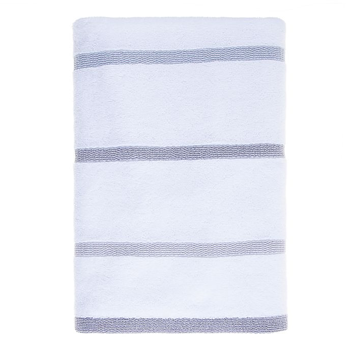 Alternate image 1 for Fashion Value Ruched Stripe Towel in Grey