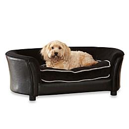 Enchanted Home Pet Ultra Plush Panache Sofa in Black