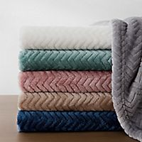 Deals on Bridgette Collective Jacquard Plush Throw Blanket