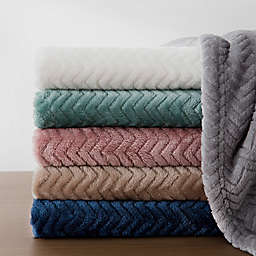 Bridgette Collective Jacquard Plush Throw Blanket
