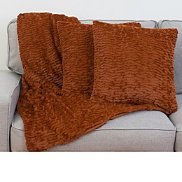 Thro By Marlo Lorenz Rachel 3-Piece Ruffle Throw Blanket and PIllow Set