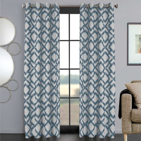 Ryder Grommet Window Curtain Panel, Bed Bath And Beyond Living Room Curtains