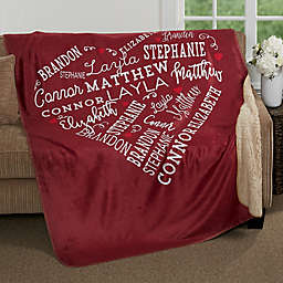 Close to Her Heart 60-Inch x 80-Inch Personalized Blanket
