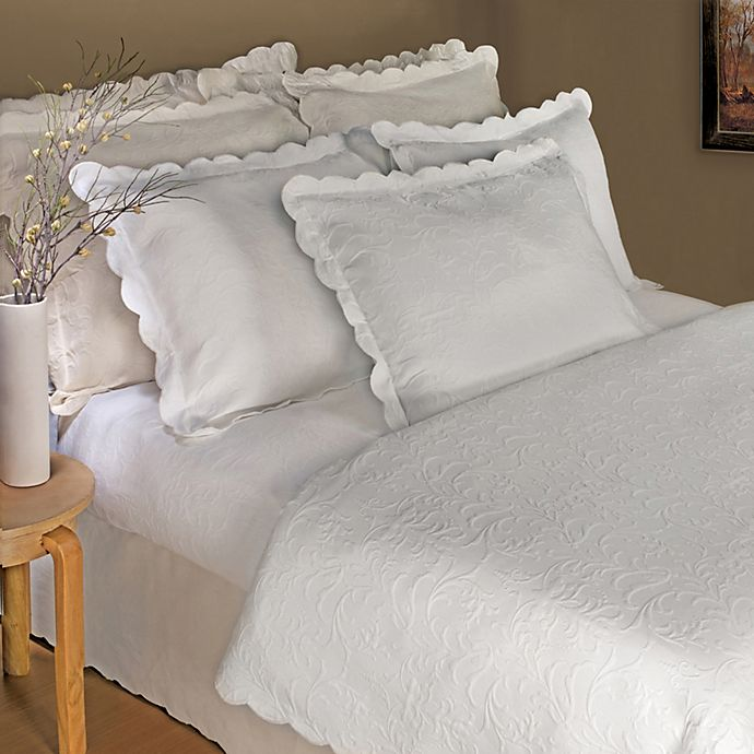 Lamont Home™ Majestic Coverlet in White | Bed Bath & Beyond