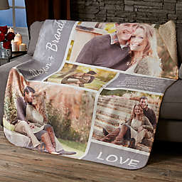 Romantic Love Collage Personalized Sherpa Blanket