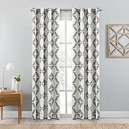 Emmett Geometric Grommet Window Curtain Panel