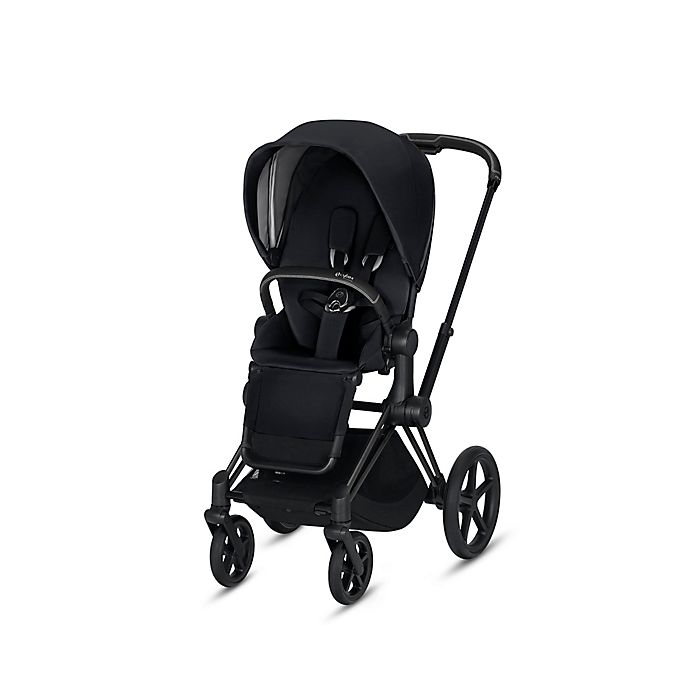 Alternate image 1 for CYBEX Priam Stroller with Matte Black Frame and Premium Black Seat