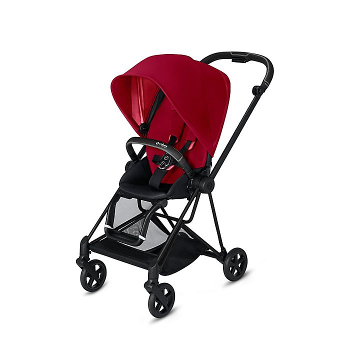 Alternate image 1 for CYBEX Mios Stroller with Matte Black Frame and True Red Seat