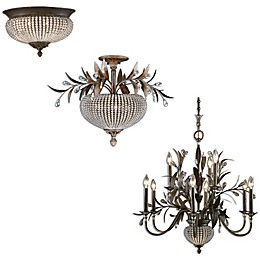 Uttermost Cristal de Lisbon Floral Bouquet Lighting Fixtures