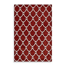 Loloi Rugs Charlotte Rug in Rust with Ivory