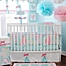 Part of the My Baby Sam Pixie Baby 3-Piece Crib Bedding Collection in Aqua