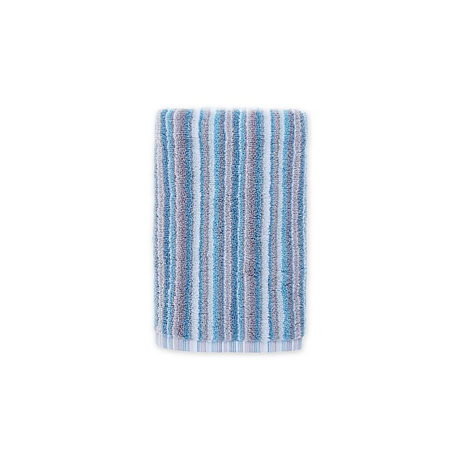 Alternate image 1 for Fashion Value Multi Stripe Hand Towel in Teal