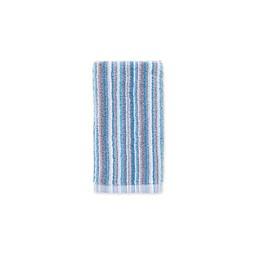 Fashion Value Multi Stripe Fingertip Towel in Teal