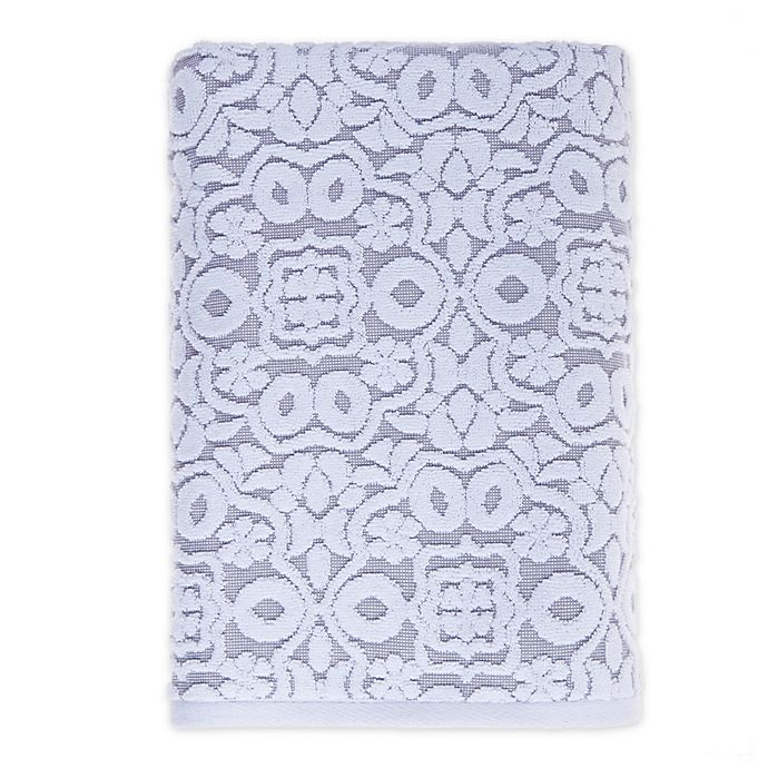 Alternate image 1 for Fashion Value Medallion Bath Towel in Grey
