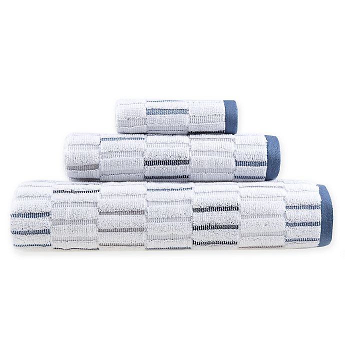 Alternate image 1 for Fashion Value Herringbone Plaid Bath Towel Collection