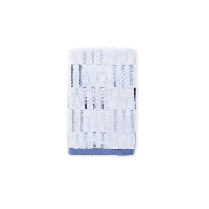 Alternate image 1 for Fashion Value Style Lounge Herringbone Plaid Hand Towel in Indigo