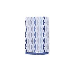 Fashion Value Geometric Tile Hand Towel in Indigo