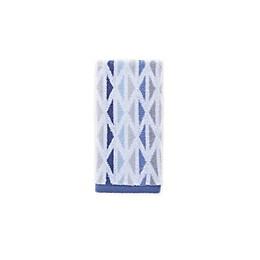 Fashion Value Geometric Tile Fingertip Towel in Indigo