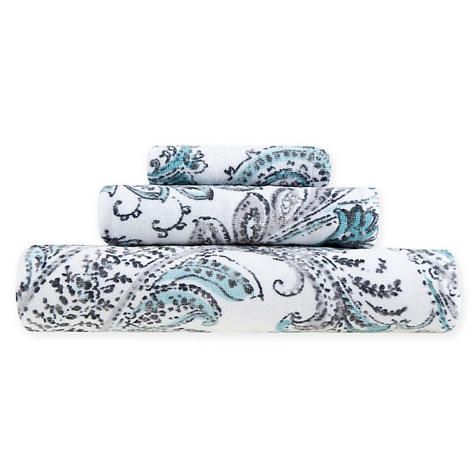Alternate image 1 for Fashion Value Paisley Bath Towel Collection